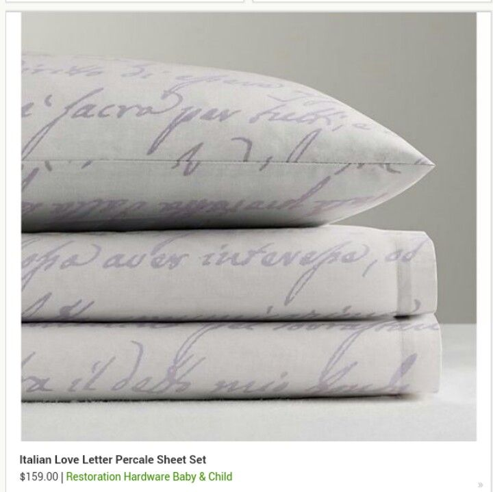 Love Letter Sheet Set