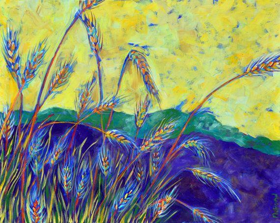 Watauga River Wheat Fine Art Print от GirlWithGapArtworks на Etsy