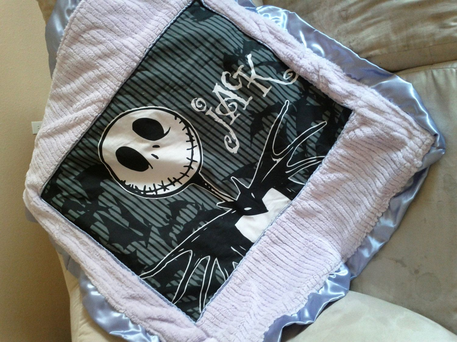 Lil monsters Nightmare before Christmas baby blanket 30-36. $40.00 ...