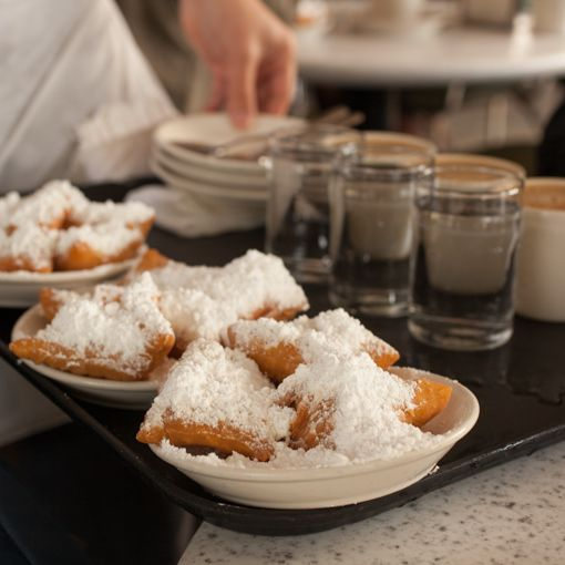 This is what I really want for breakfast! Photo by Renée Comet, http://cometphoto.com/ #NewOrleans #beignets #cafeaulait #foodphotographer #foodphotography #travel