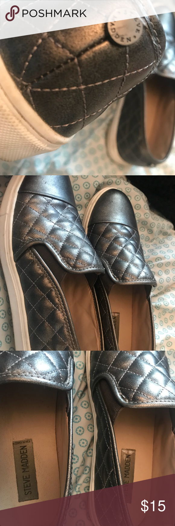 5d81e8b0011 Silver Steve Madden shoes Only worn a couple of times, Steve Madden ...