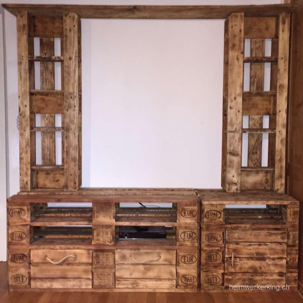 Ein TV Möbel aus Paletten selber bauen - Heimwerkerking  Tv möbel