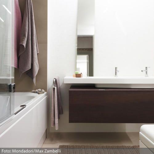 Dezentes Braun im Bad - boden für badezimmer