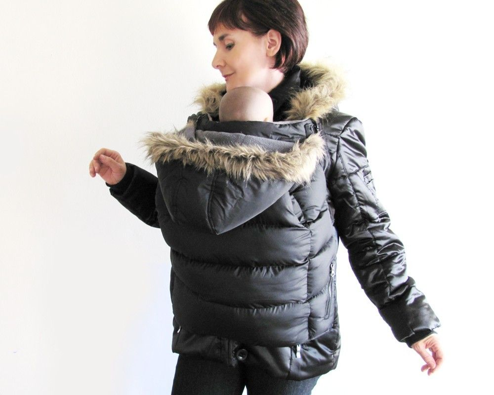 a431be539 Winter Babywearing Coat. Maternity Coat. BACK and FRONT Carry ...