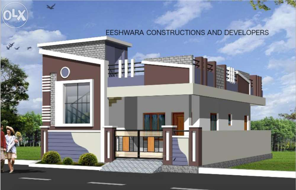 Elevations of independent houses google search for Small indian house plans modern