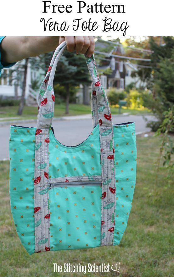 Vera Tote Bag Pattern | Sewing Projects | Pinterest ...