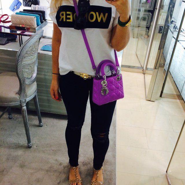 5555e3fcf4c Dior mini purple crossbody lady dior