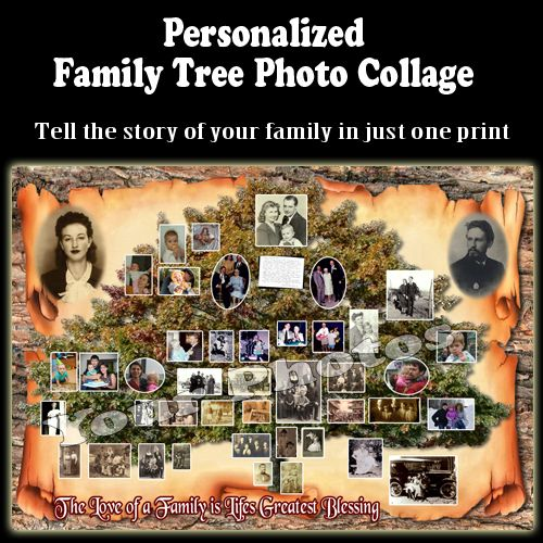Birthday Gift Ideas 60th Gifts For Brother Personalized Men Turning 60 Family Tree Photo Collage