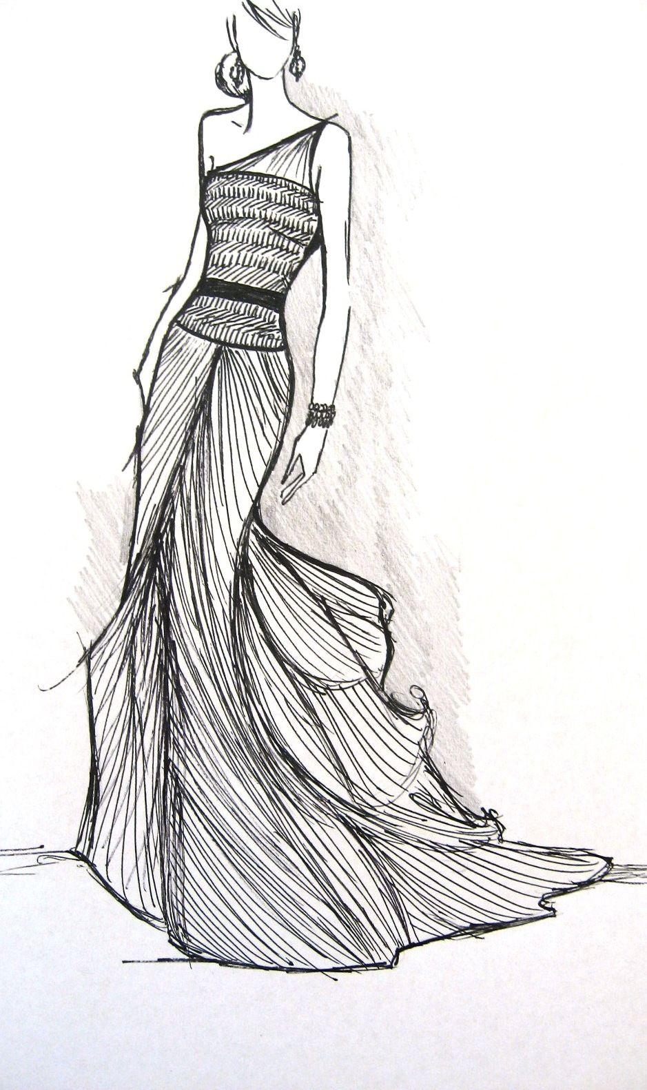 By Jessica Durrant Fashion Illustration Fashion Sketches Fashion Art