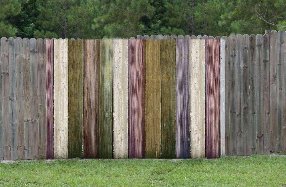 Brise vue palissade bois ancien d coration jardin - Palissade bois jardin ...