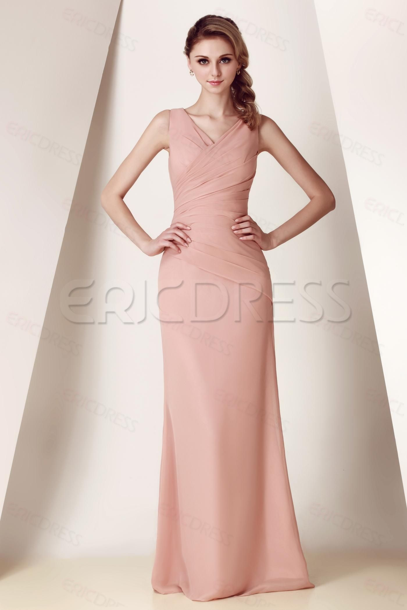Elegant Strapless/V-Neck Knee/Floor-Length Dasha\'s Bridesmaid Dress ...