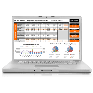 Digital Campaign Analytics Dashboard Template MS Excel Analytics - Excel 2016 dashboard templates