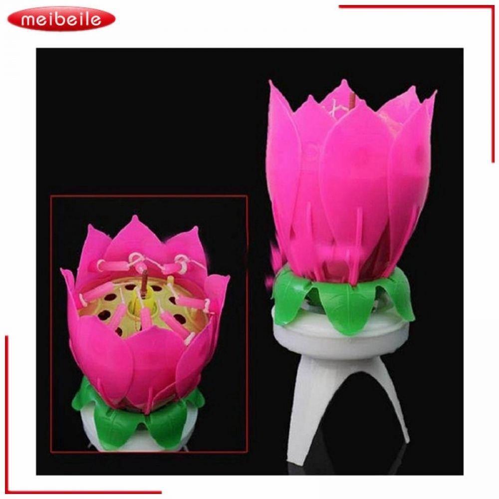 Musical Lotus Flower 8 Candles For Children Birthday