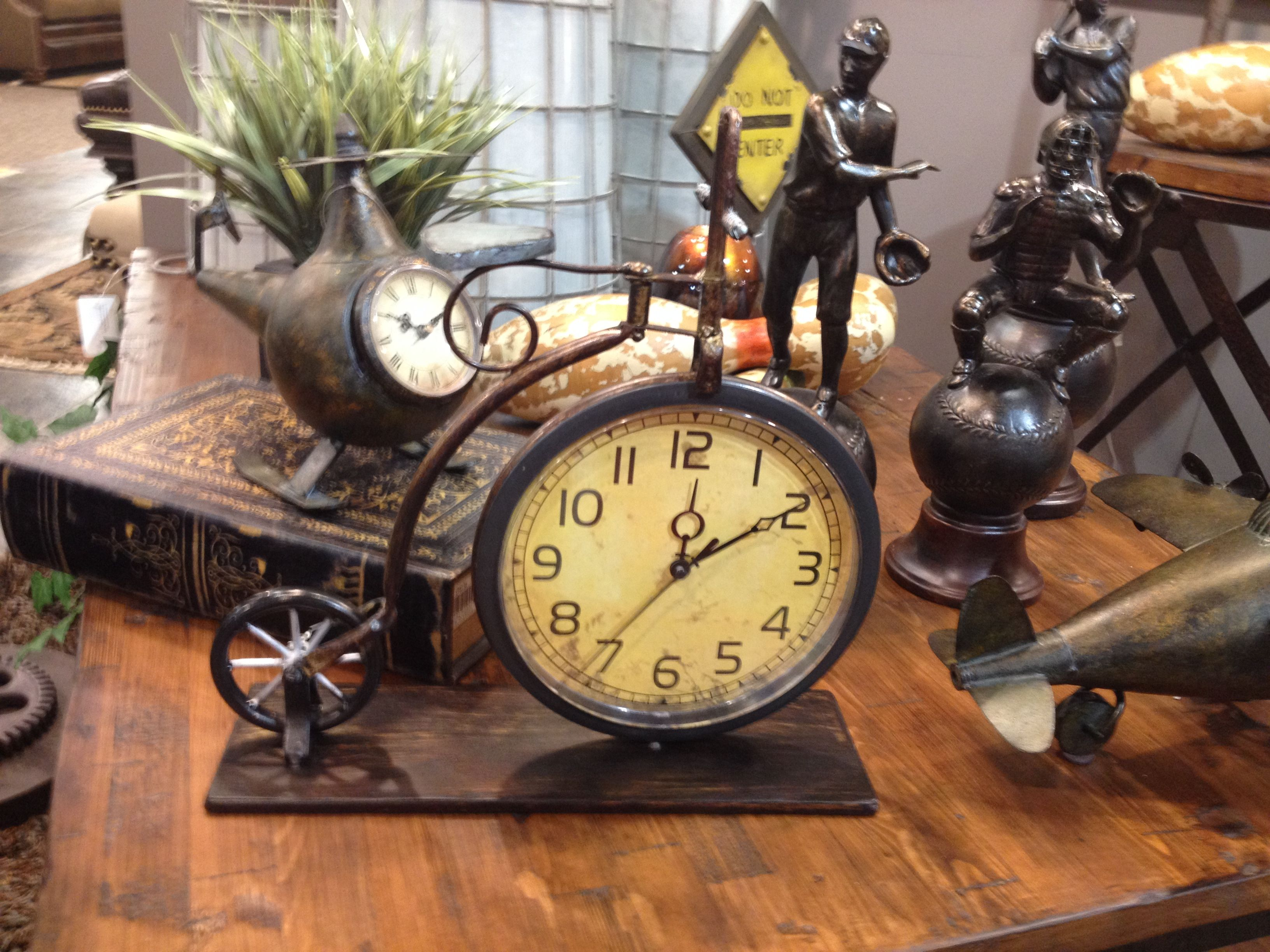 Bicycle clock statue