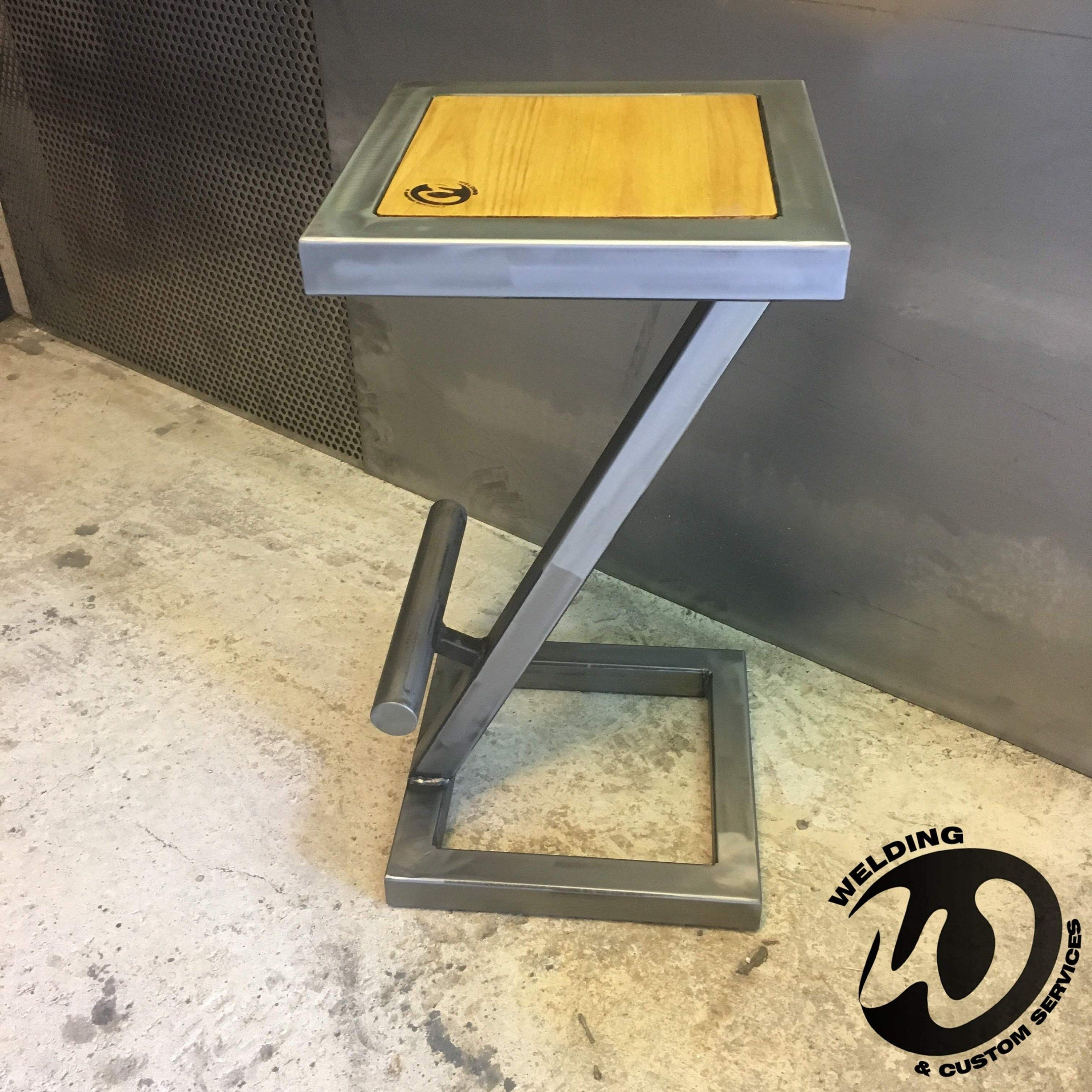 Stool Bar Design Steel And Wood Industrial Made To Measure