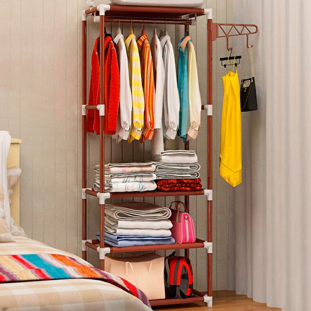 Portable Clothes Hanger And Storage In 2020 Clothes Hanger Rack Hanging Clothes Racks Hanging Storage Shelves