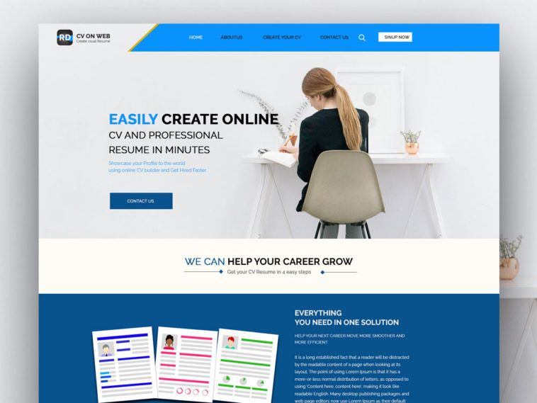 Rd Free Professional Cv Resume Website Template Website Template Downloadable Resume Template Cv Design Template