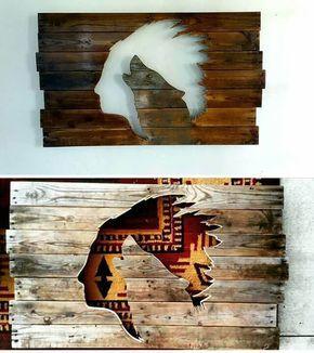33+ Best Pallet Glowing Wall Shelf Art