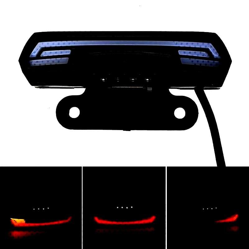 Tail Rear Brake Stop Waterproof Double Flash Warning Dynamic Turn Signal License Plate Light.Genera