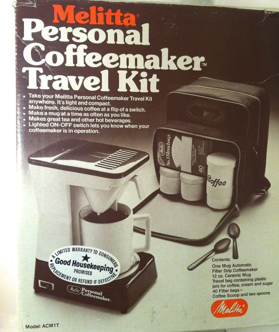 Melitta Coffeemaker Travel Coffee Kit Electric Drip Coffee Maker