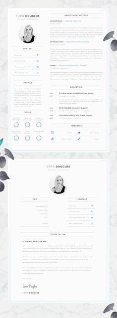 Modern CV Design Resume Design - Must Do Career Project #Etsy #CV