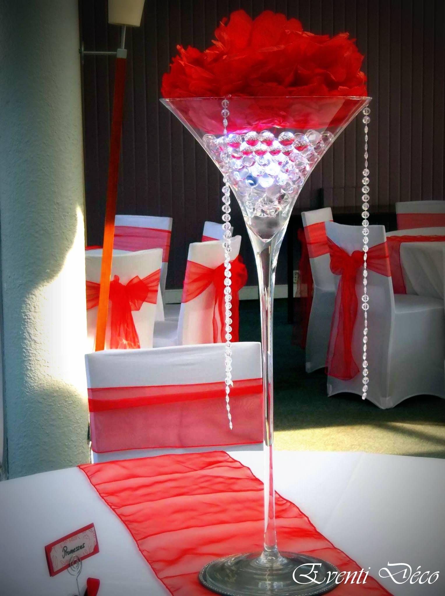 mariage glamour en rouge et blanc. création eventi déco - 56 www