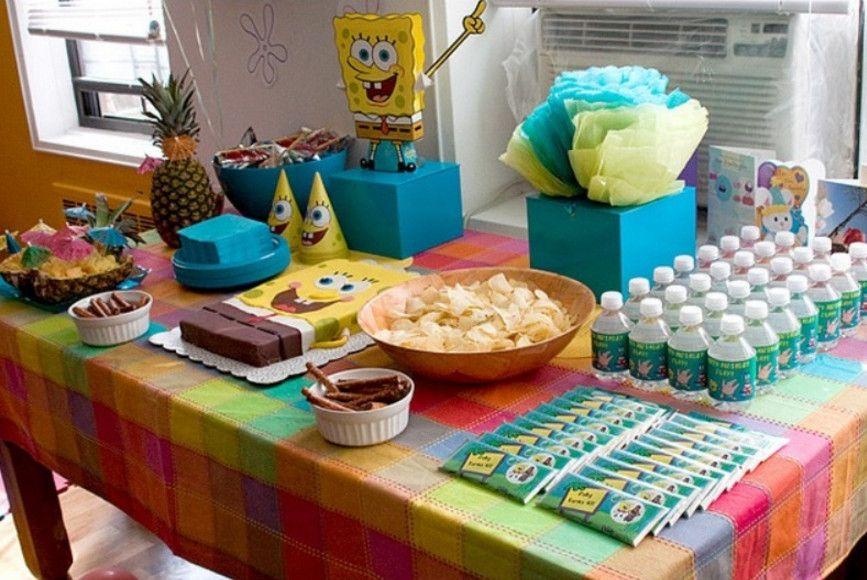 Spongebob Birthday Party Menu Ideas Home Theme