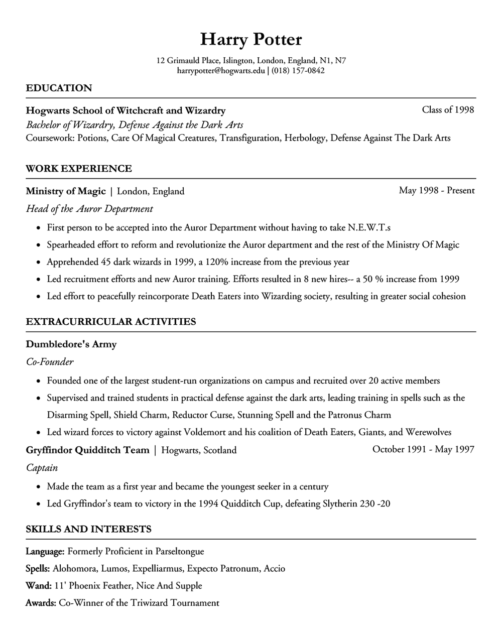 Free Resume Builder for college students- Ivy League templates! Free ...