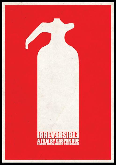 Irreversible Minimal Graphic Movie Poster Design By Viktor Hertz