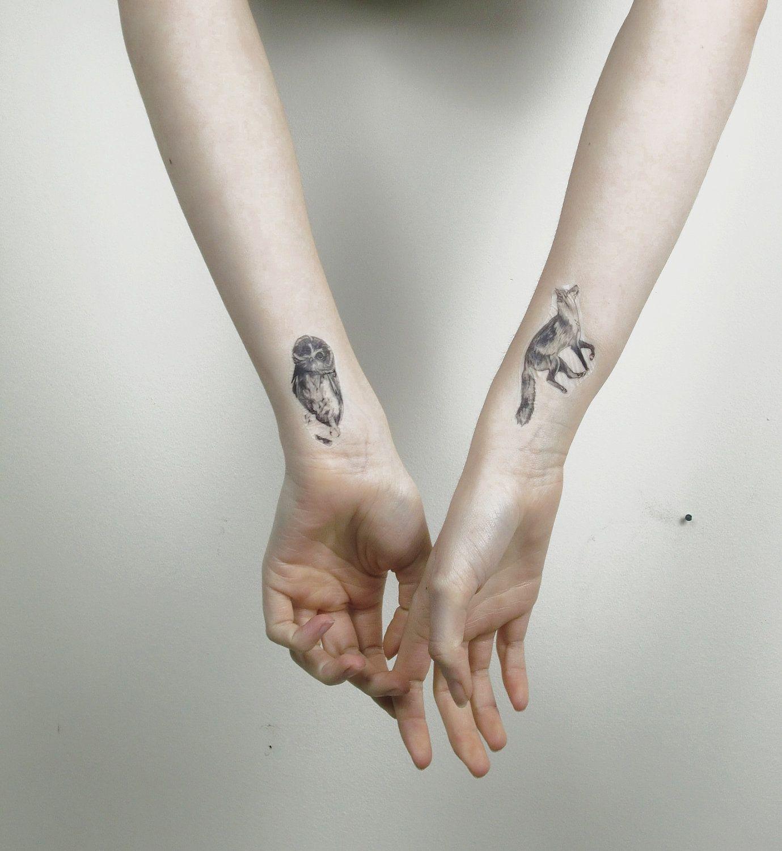 Woodland Critters Temporary Tattoos Etsy Fox Tattoo Small Tattoos Tattoos