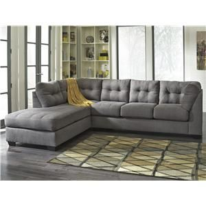 Benchcraft Maier Charcoal 2 Piece Sectional W Sleeper Sofa Ch
