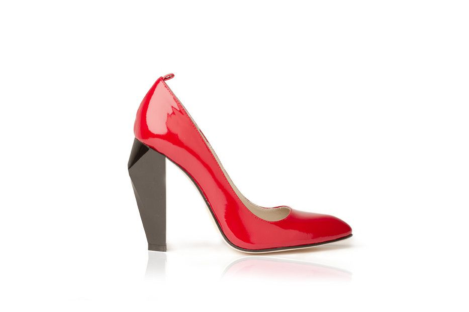 The Moma Boardroom Red is a classic luxury high heel handcrafted in America. Shop our stilettos today!