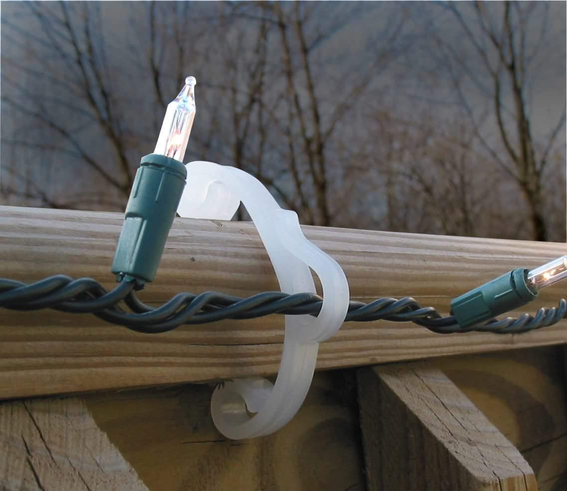 Christmas Light Holder Outdoor Deck Railing Hook Clips