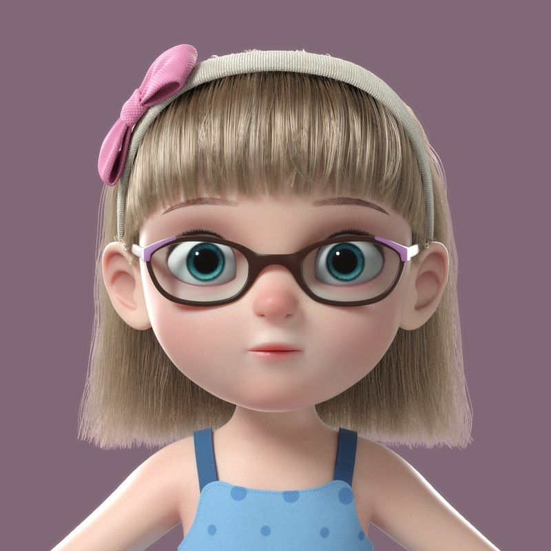 Girl Cartoon 3D (With Images)