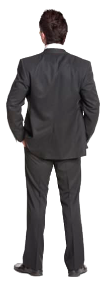 Cutout Man Standing Back Man Standing Man Standing
