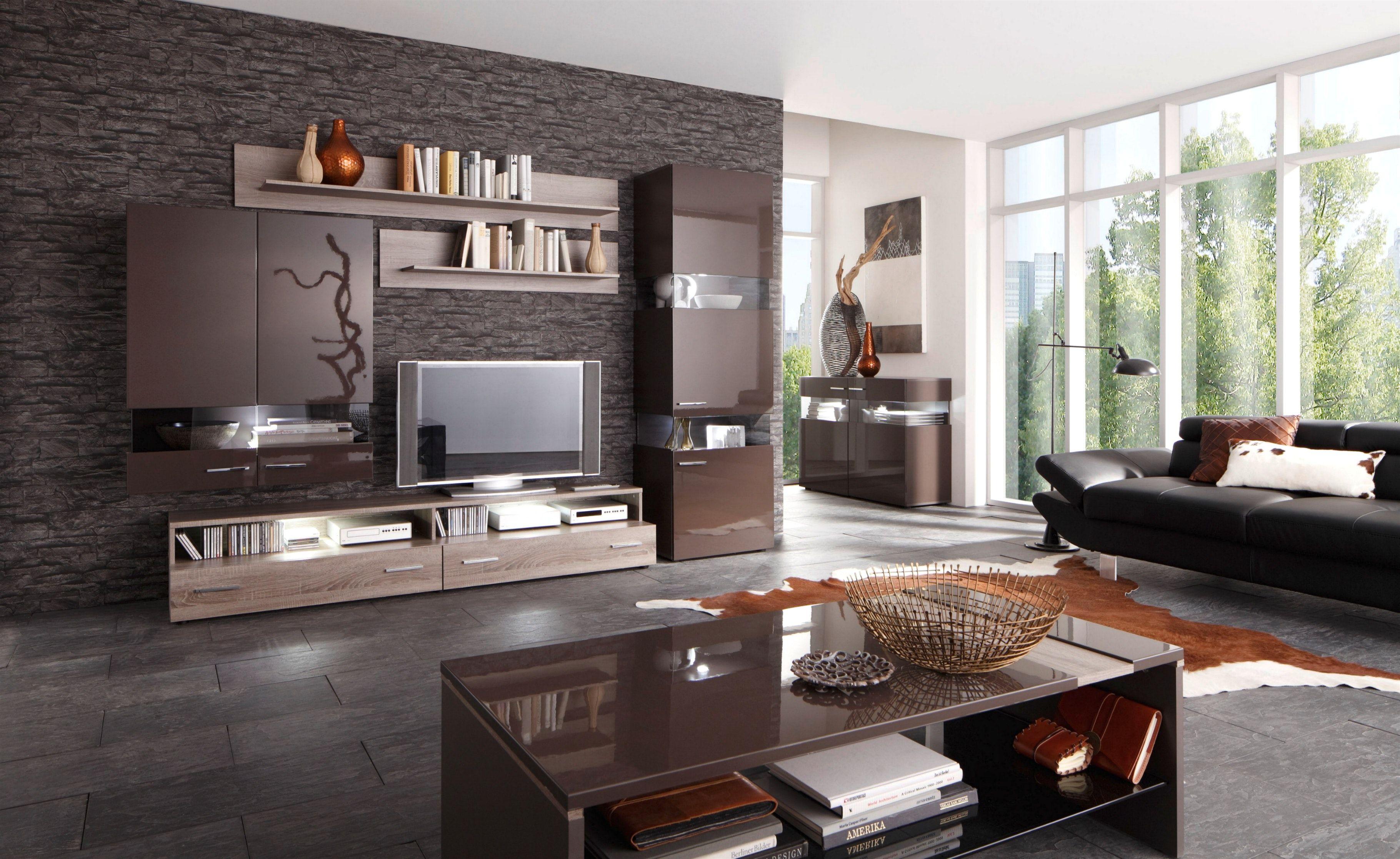 Wohnzimmereinrichtung Ideen Braun