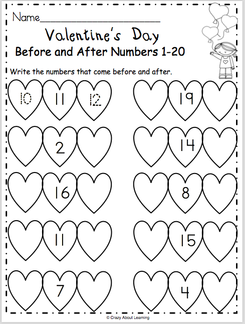 free valentines day math worksheet  kindergarten valentines day  free valentines day math worksheet
