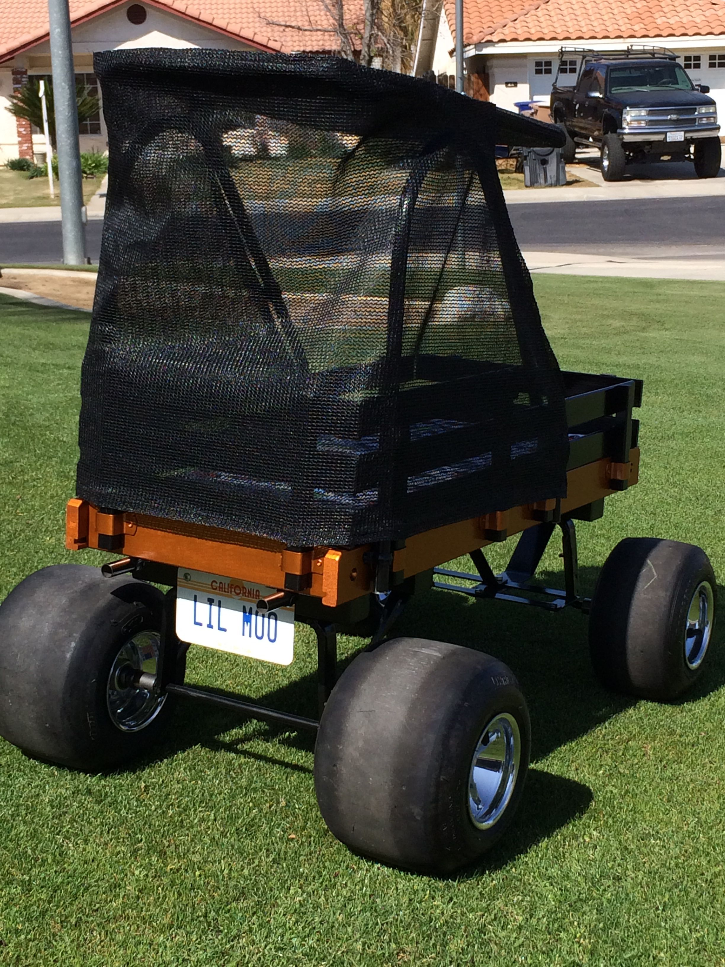 Lil Moo's custom wagon, by Grandpa Gilbert Carmona