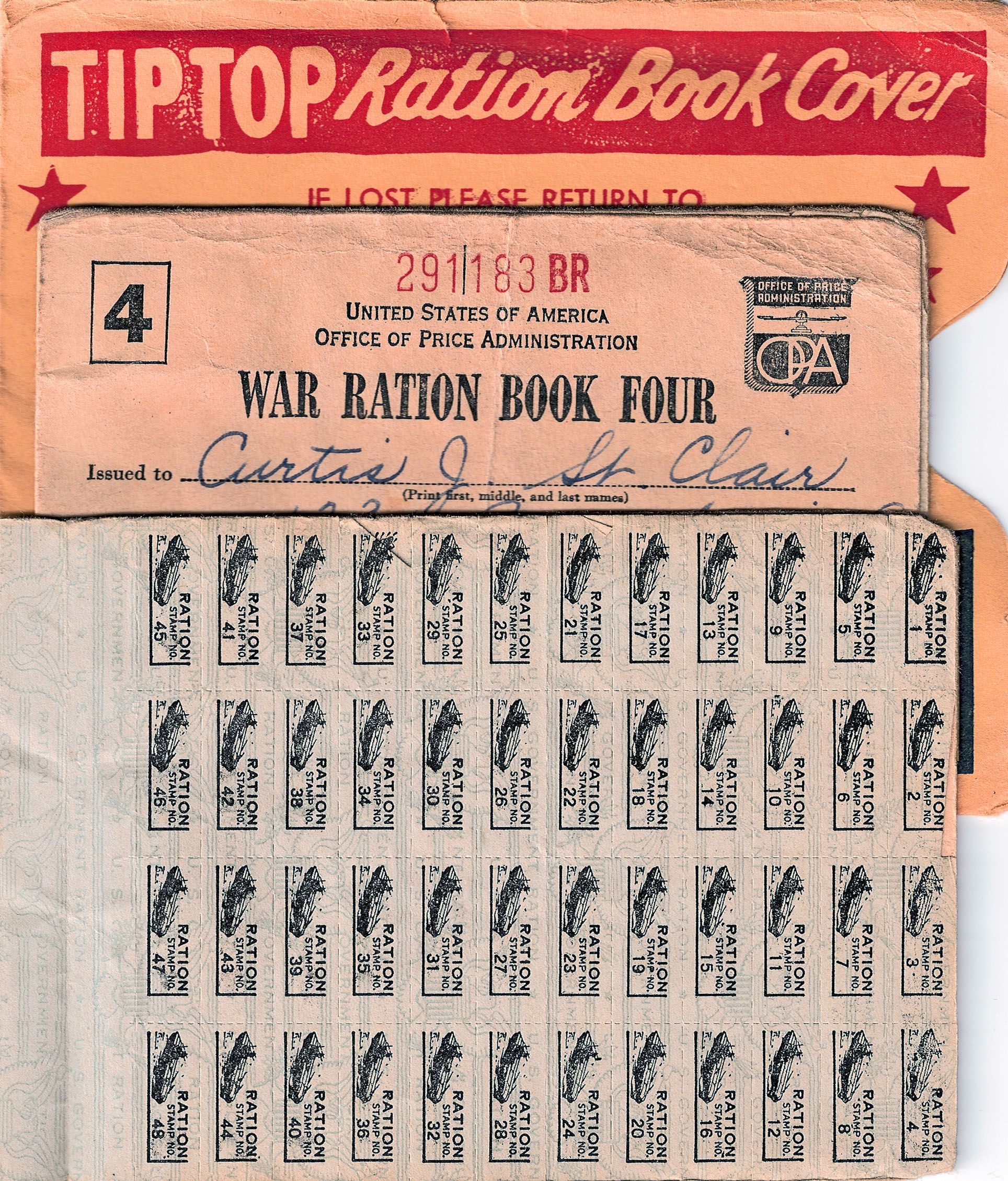 Pictured Here Are World War Ii Ration Books And A Tip Top