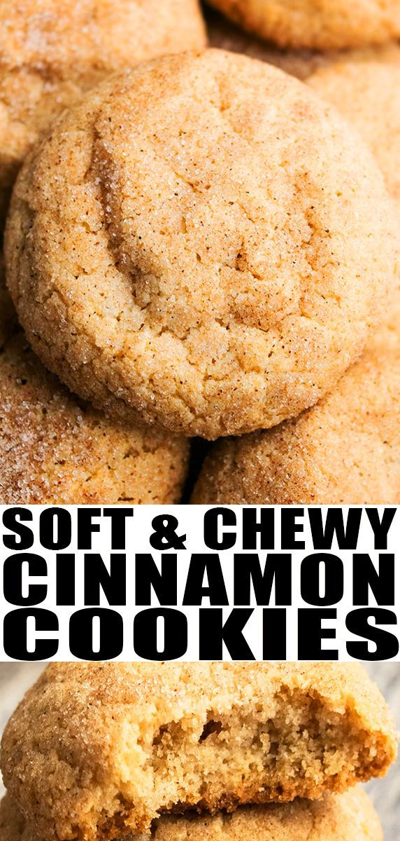 CINNAMON COOKIES RECIPE Quick and easy crinkle cookies requiring simple ingredients and loaded with cinnamon They are soft and chewy on the inside crispy on the outside F...