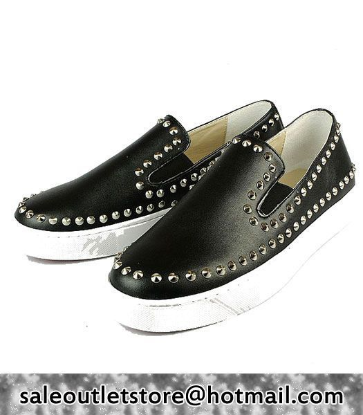 promo code a3119 e6b2e Christian Louboutin Pik Boat Mens Flat Black #Sneakers for ...