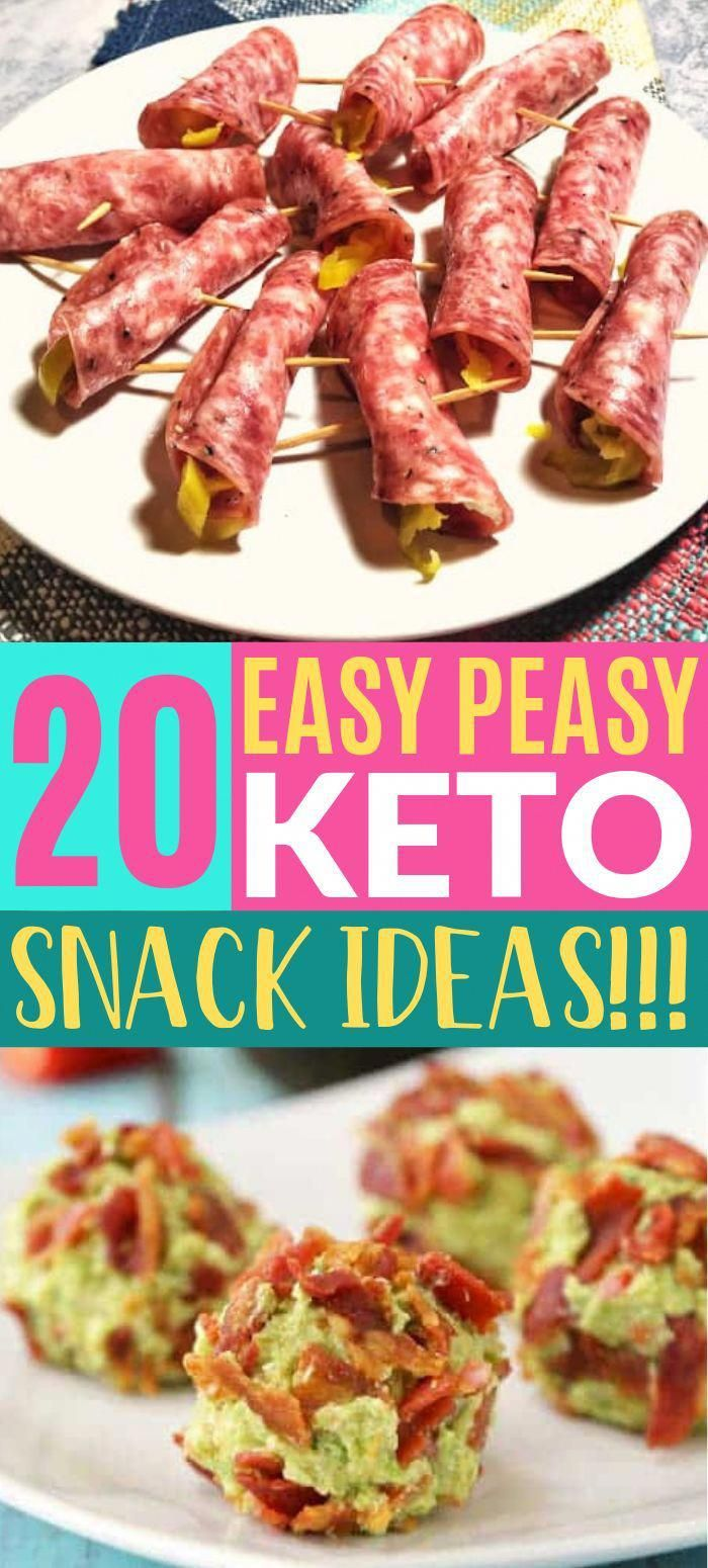 These easy keto snack ideas don't even taste low carb!! So many healthy snacks to try on my ketogenic diet! Try the salami roll ups, they're the BEST! #keto #snacks #snackideas #healthyrecipes #lowcarbdiet #EasyKetoRecipes