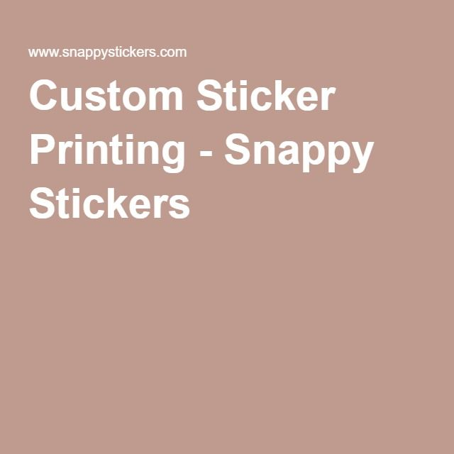 Top  Best Custom Sticker Printing Ideas On Pinterest Make - Custom cool vinyl stickers   for your political campaign