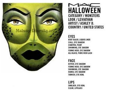 TONS of MAC Halloween FACE CHARTS - Beautynewbie