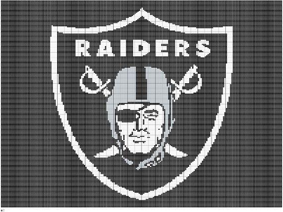Crochet Oakland Raiders Graphgan Pattern Raiders by FADesignCharts ...