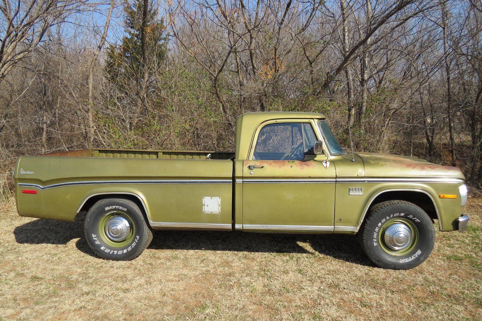 1971 dodge d200 camper special sweptline 3 4 ton pick up truck