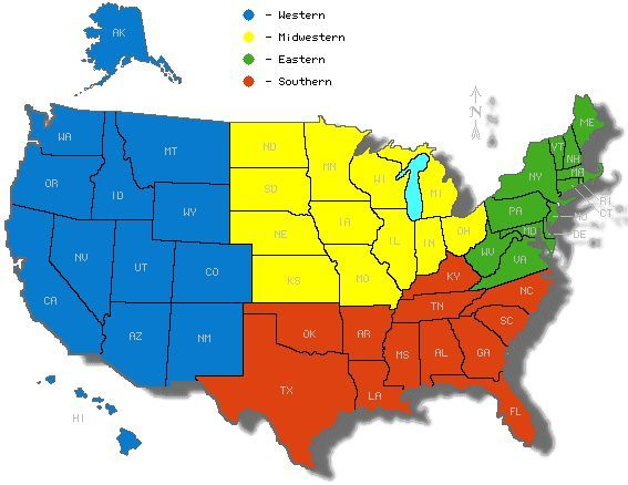 Image result for map of the us broken into regions | Infographics ...