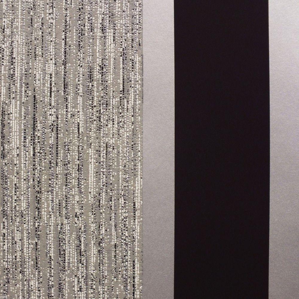 SILVER E87519 NEW STRIPE WALLPAPER BLACK