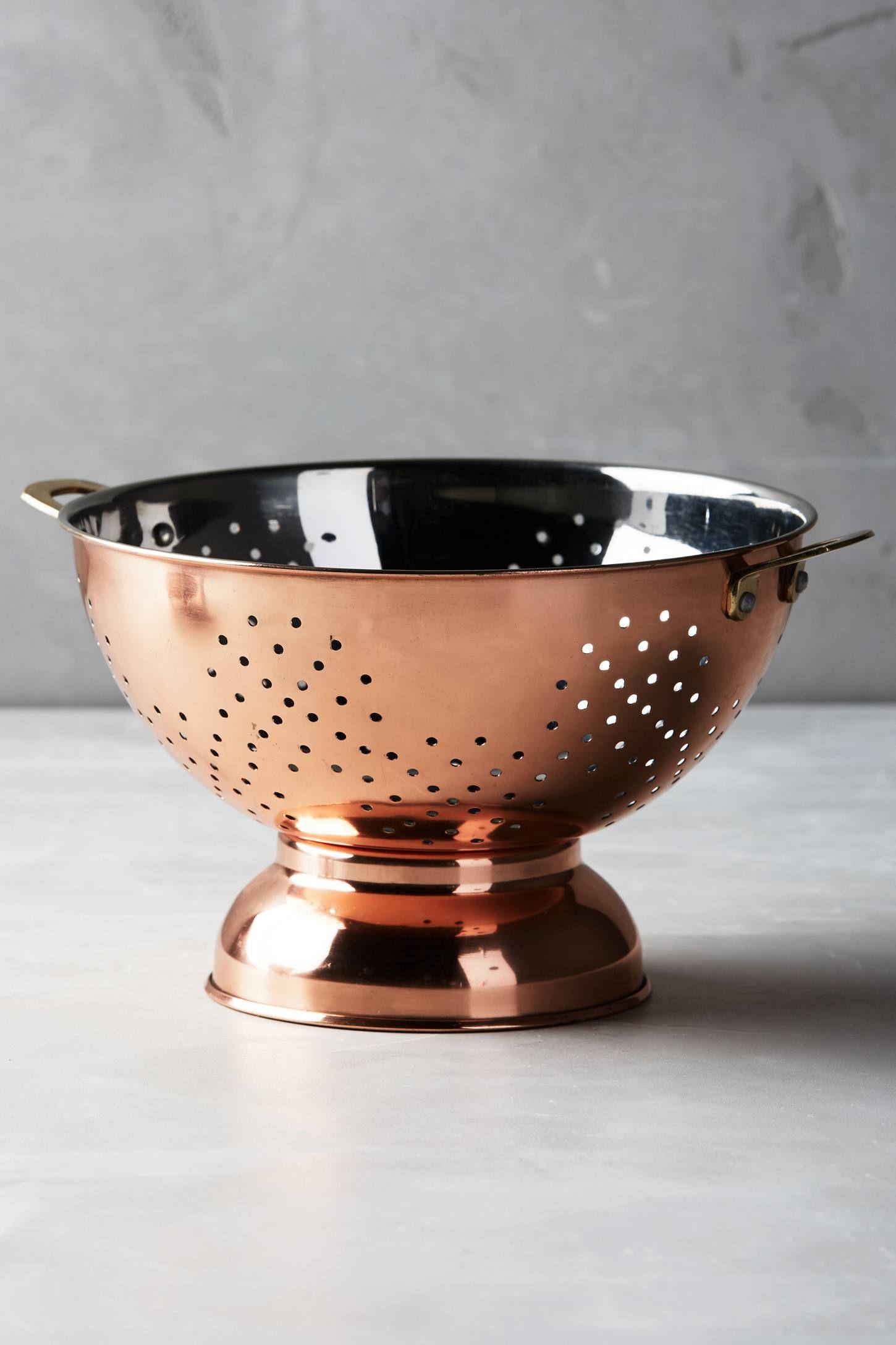 Copper-Plated Colander | Wunschlisten und Küche