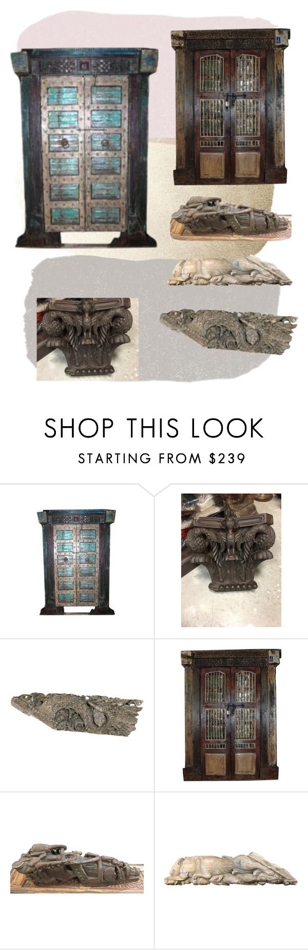 Antique Carved Doors by era-chandok on Polyvore featuring interior, interiors, interior design, home, home decor, interior decorating, olddoor, handcarveddoor and corbels